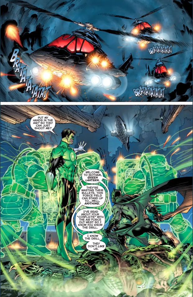 batman and green lantern's first meeting (new 52)