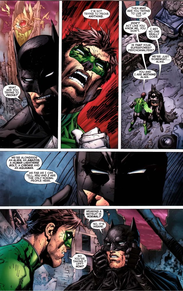 green lantern doesnt know who bruce wayne is 2