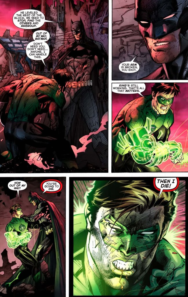 green lantern doesnt know who bruce wayne is