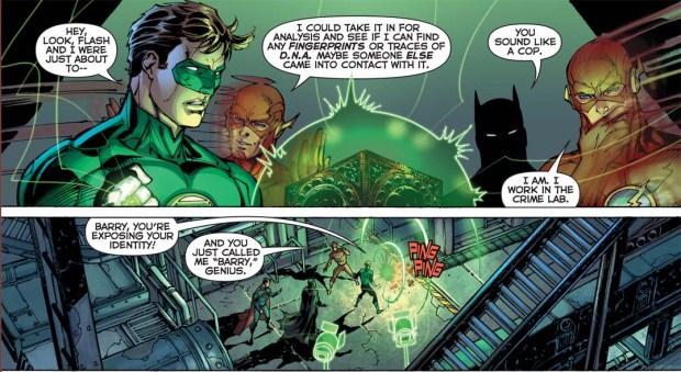green lantern exposed flash's secret identity