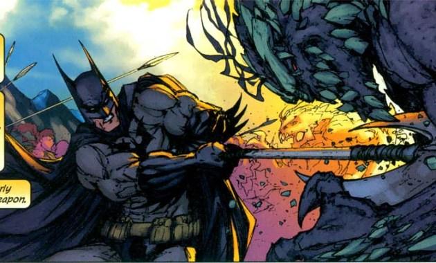 batman with a battleaxe