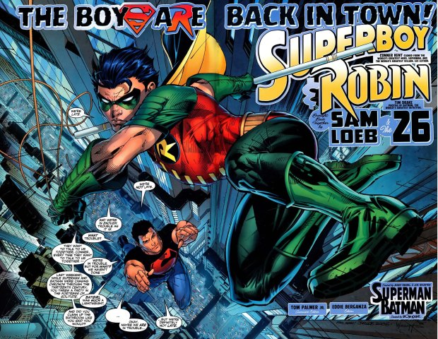 robin and superboy in trouble