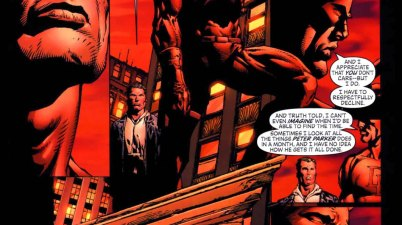 daredevil slips spider-man's real name