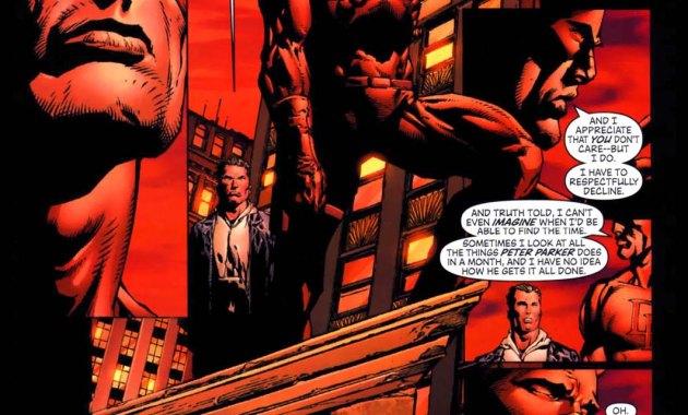 daredevil slips spider-man's real name