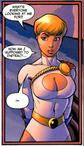 How Power Girl Can Distract Someone