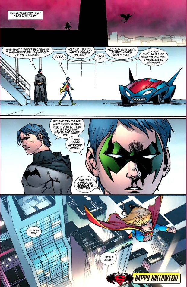 robin teased about supergirl