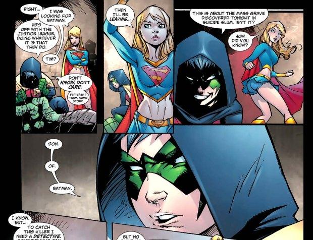 supergirl meets damian wayne