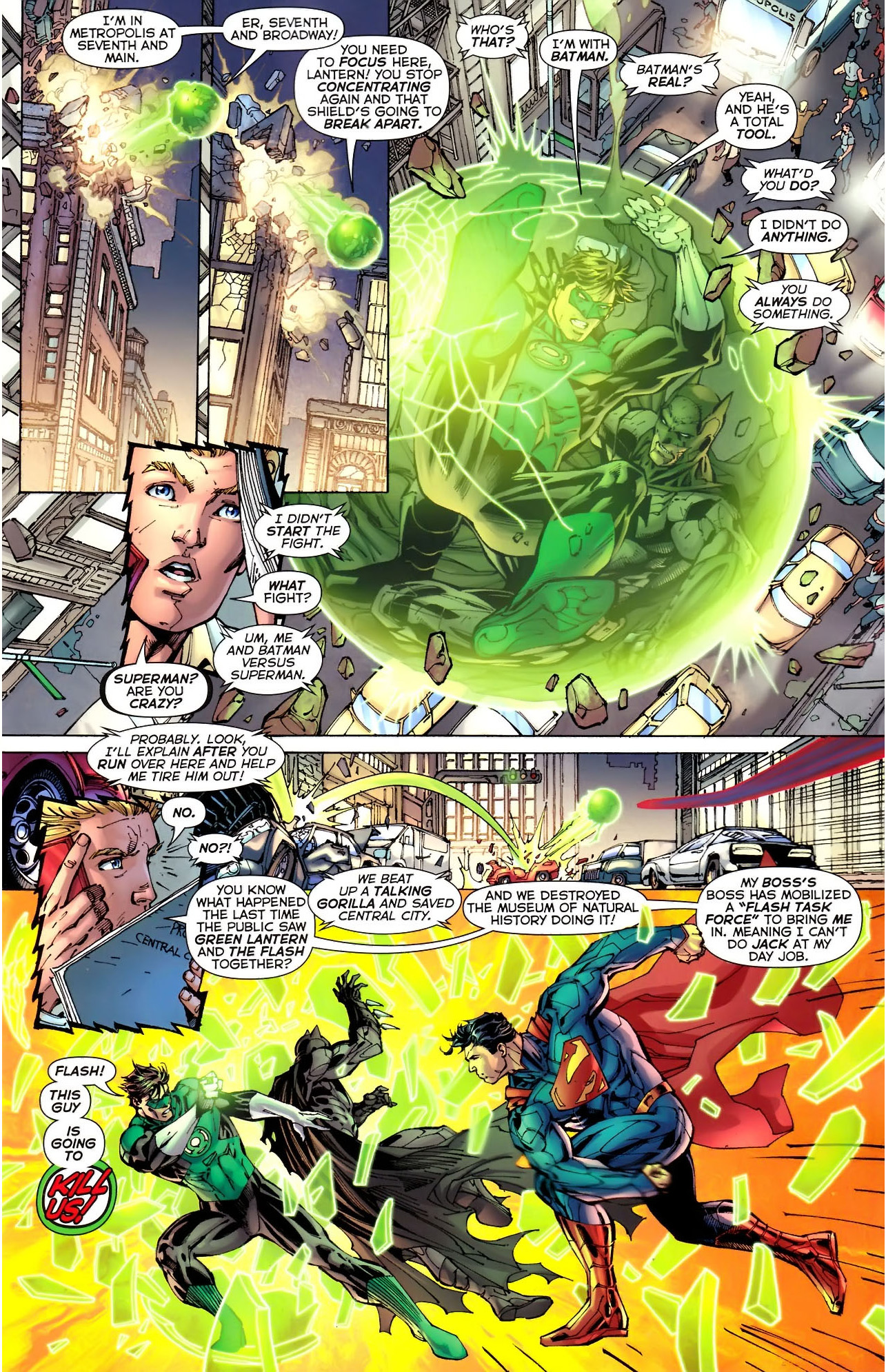 Superman vs green lantern - photo#25