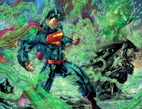 Superman VS Batman and Green Lantern