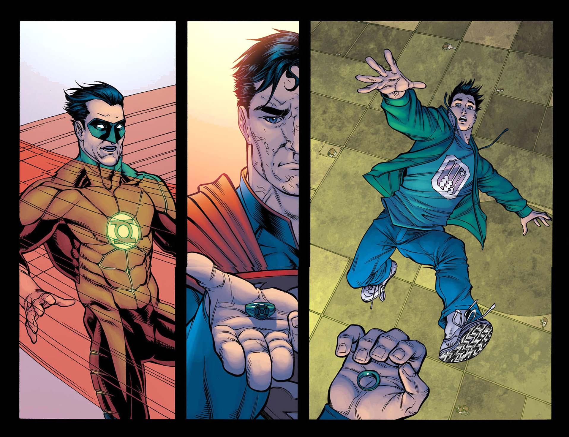 Superman vs green lantern - photo#24