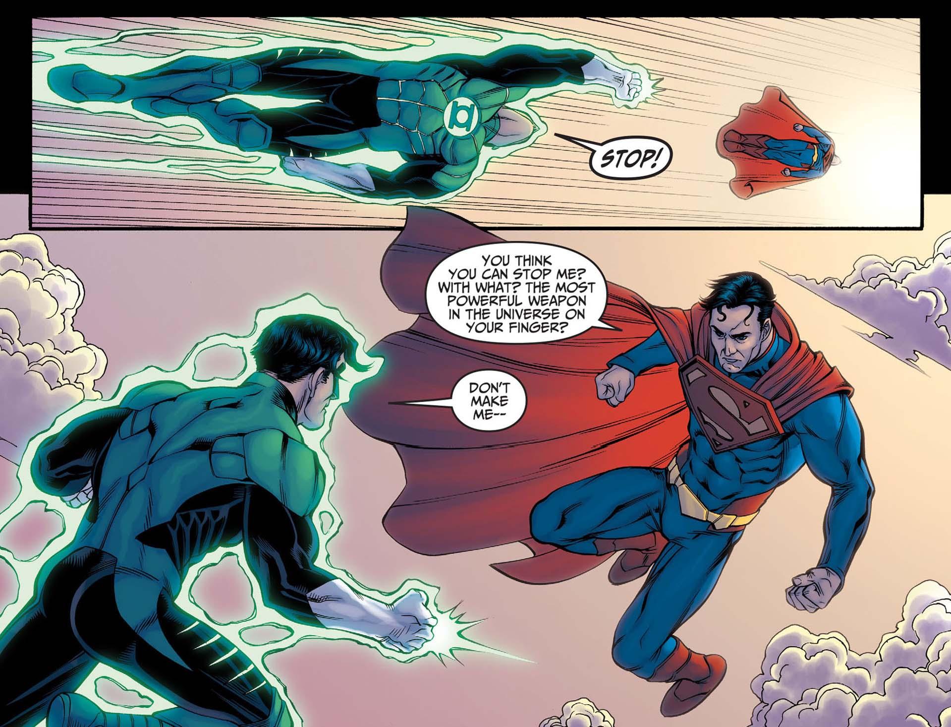 Superman vs green lantern - photo#27