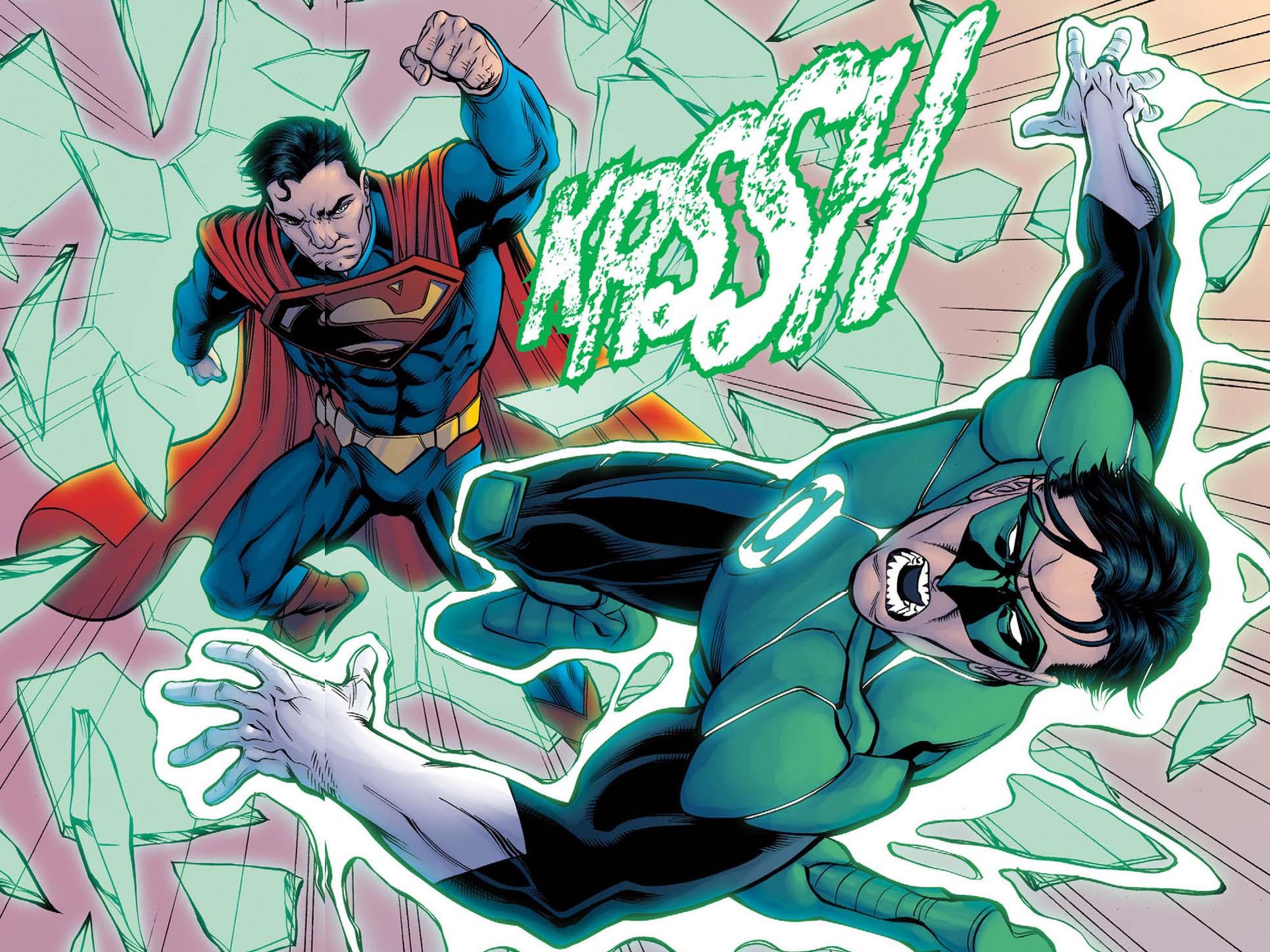 Superman vs green lantern - photo#1