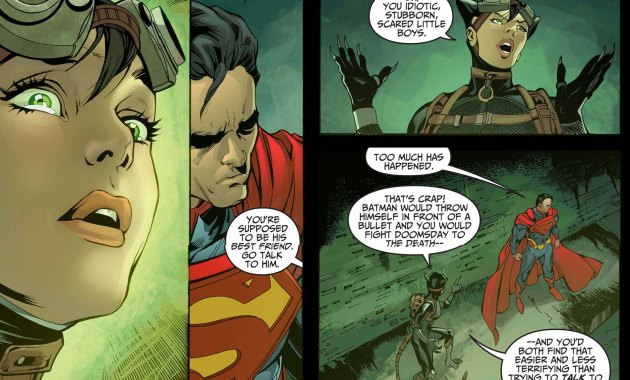 Superman and Batman Are Scared of Talking