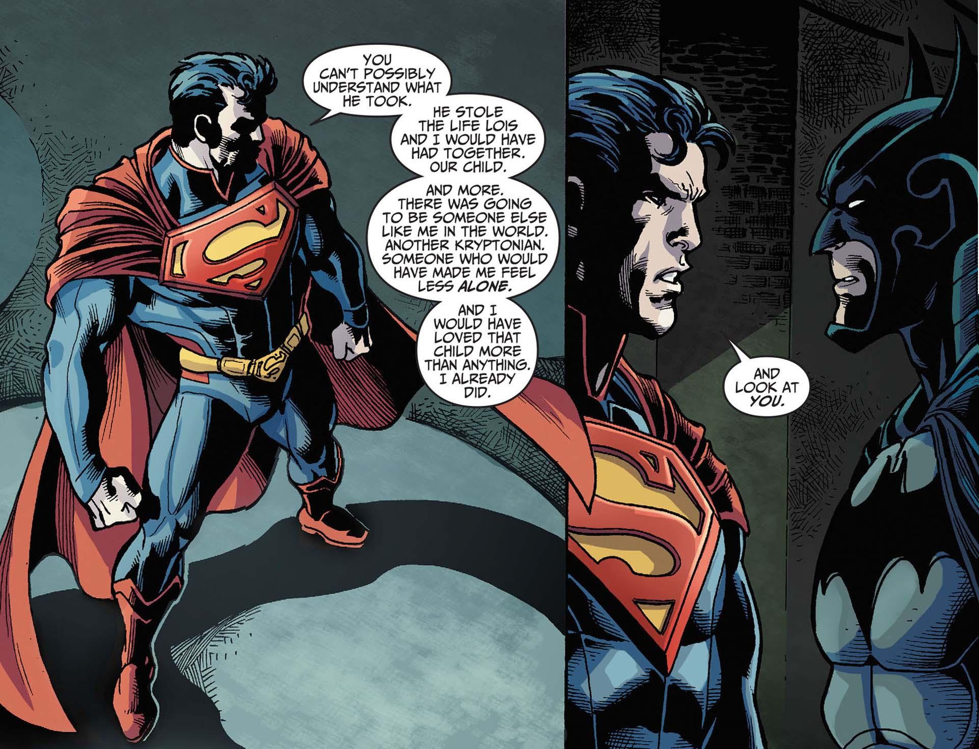 superman burns batman comicnewbies