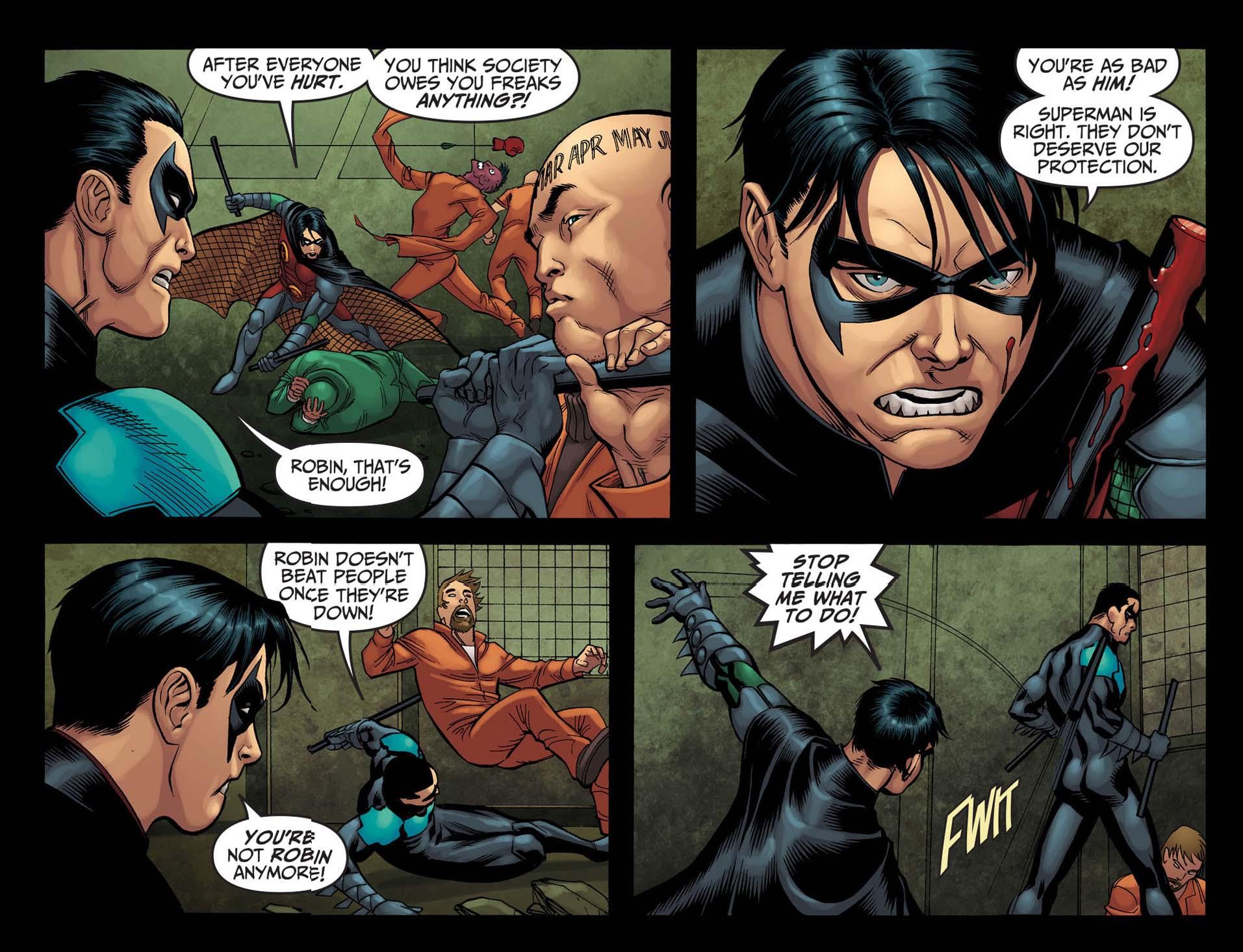Robin Kills Nightwing | Comicnewbies Nightwing Injustice Comic