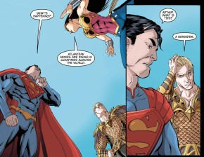 Aquaman Challenges Superman