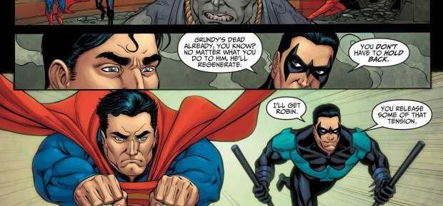 superman against undead