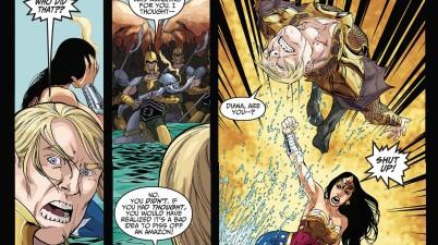 Wonder Woman Sucker Punches Aquaman