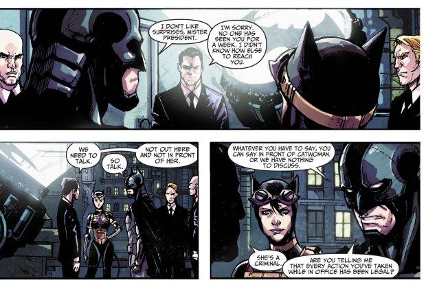 batman defends catwoman