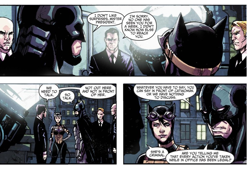 batman defends catwoman