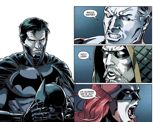 Batman reveals his identity to his team 3