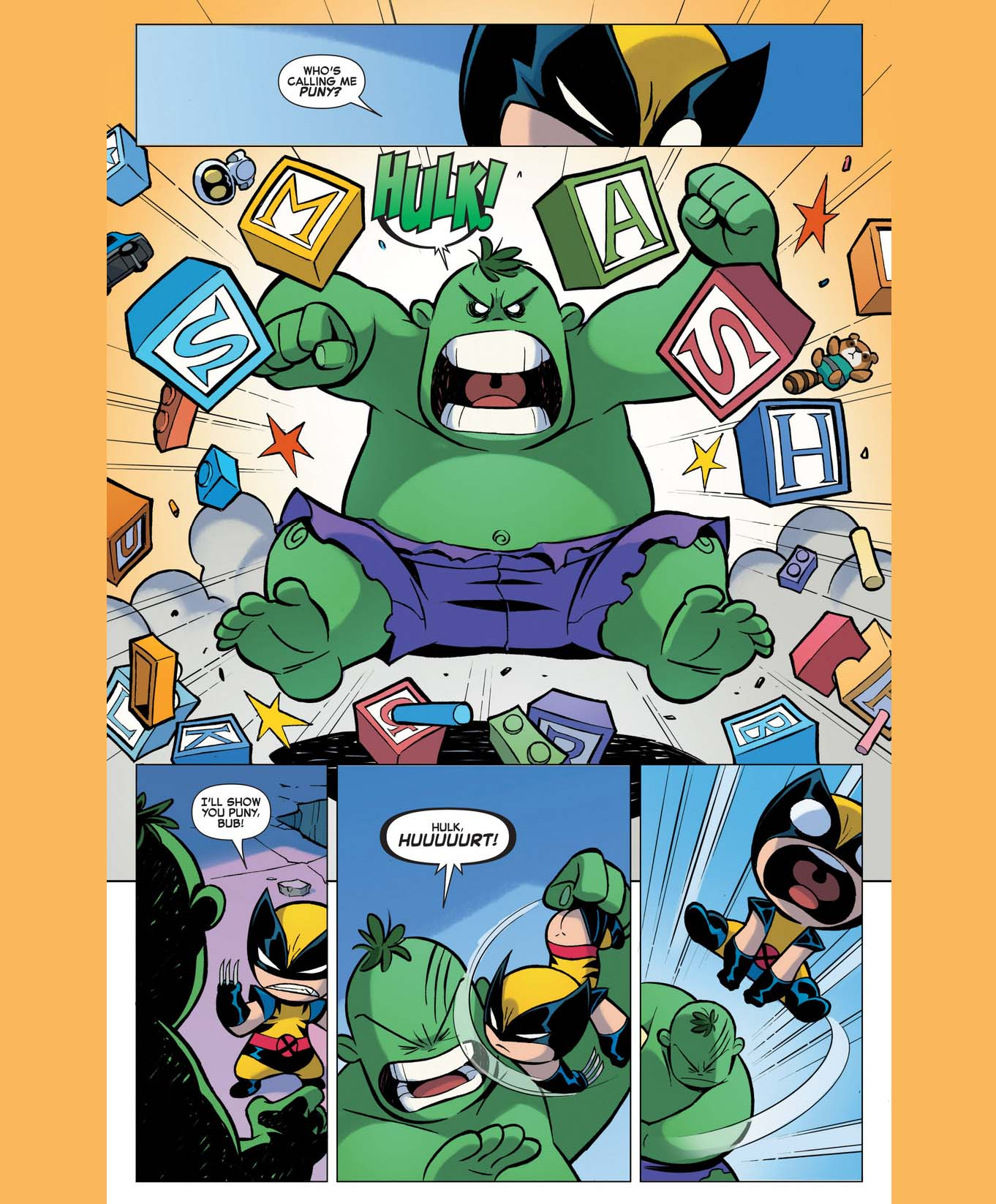 Baby Wolverine VS Baby Hulk | Comicnewbies X Babies Nightcrawler
