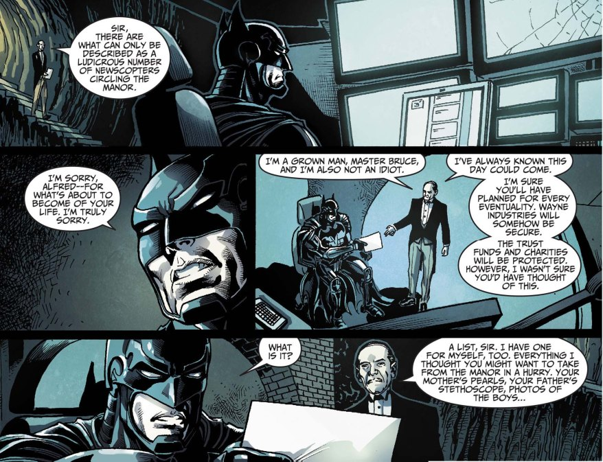 Batman's bugout list