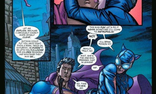 catwoman escapes superman