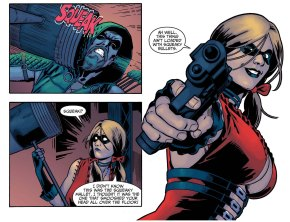 green arrow vs harley quinn