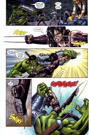 x-23 vs the hulk