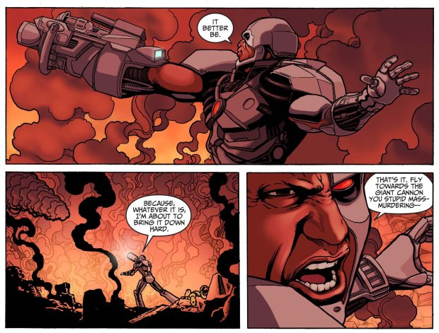 cyborg vs black adam