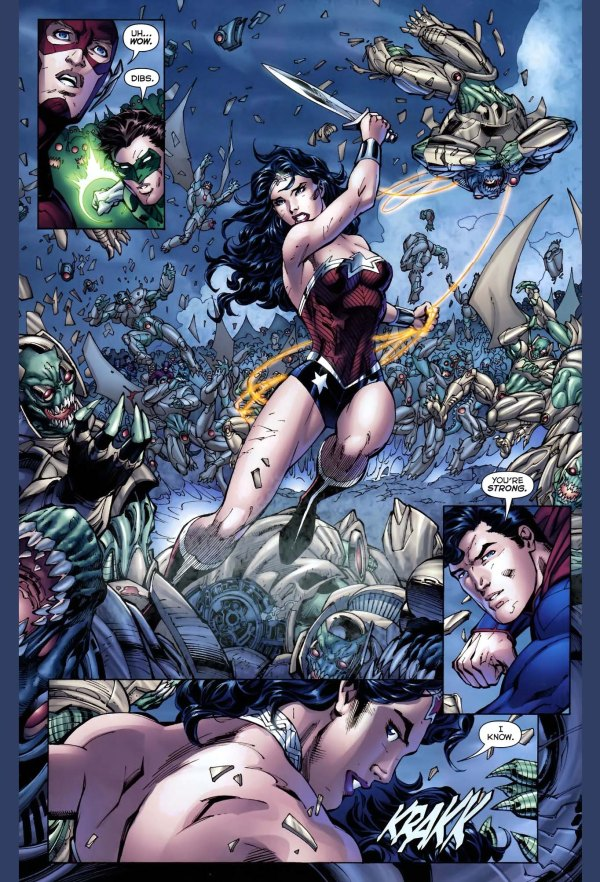 Superman And Wonder Womans First Meeting New 52 -9066