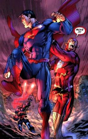 superman and flash outruns omega sanction