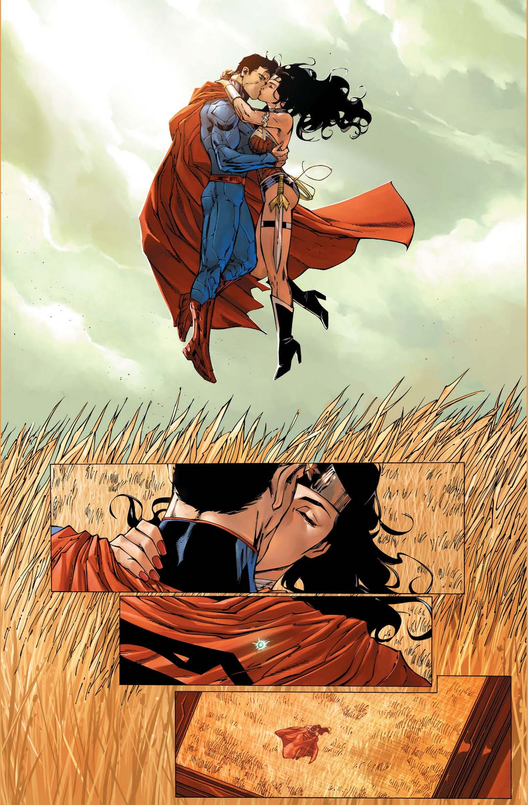 Superman And Wonder Woman Kissing 2  Comicnewbies-5078