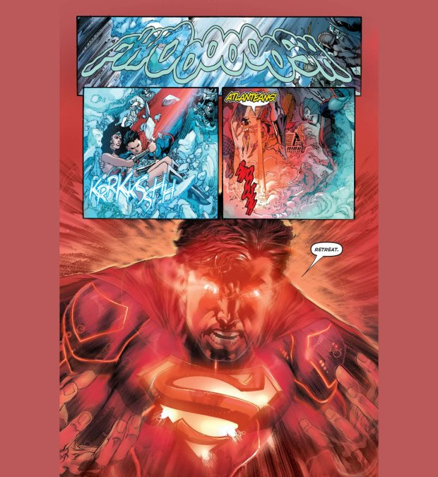 superman and wonder woman vs ocean master