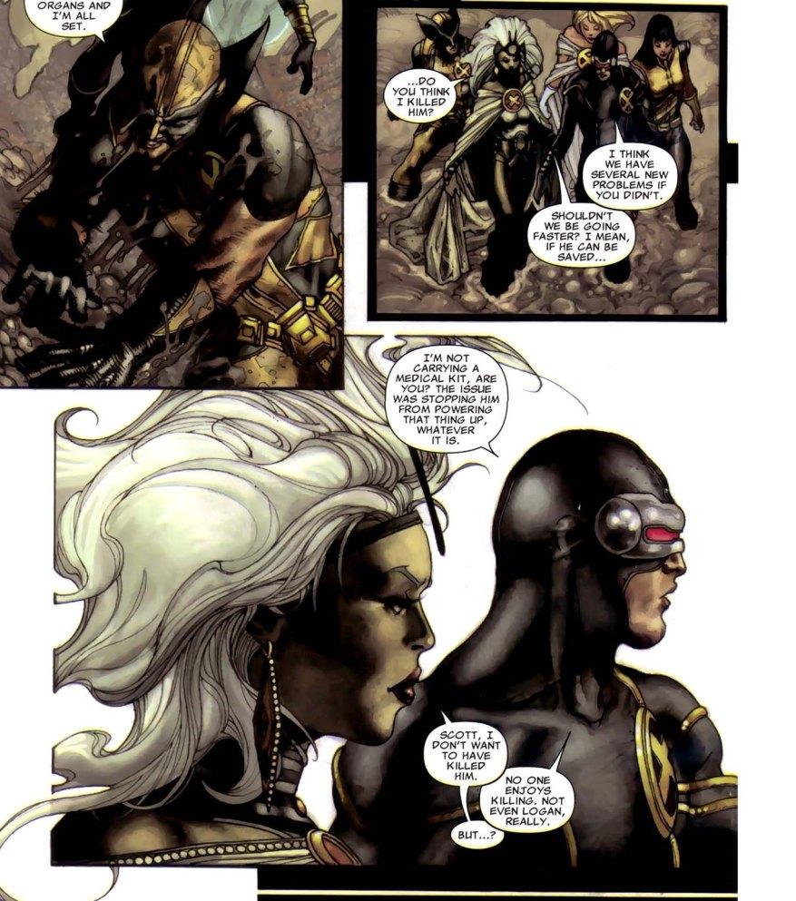 Cyclops and Storm Discuss Killing