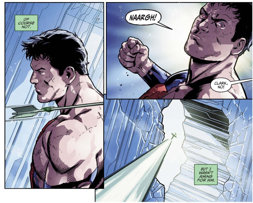 superman kills green arrow