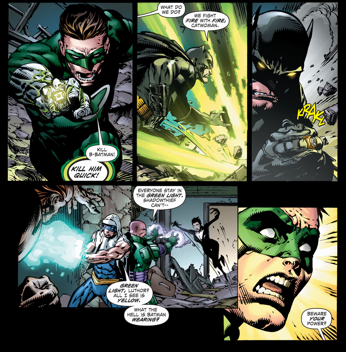 Injustice  Does Batman Have A Green Lantern Ring