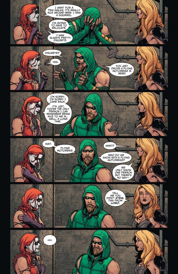 harley quinn in the arrow cave 2