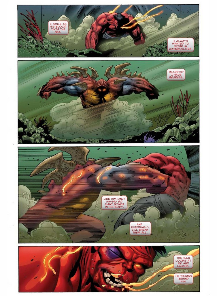 red hulk vs juggerlossus 2