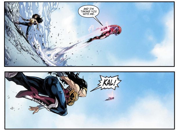 captain atom takes out superman and wonder woman