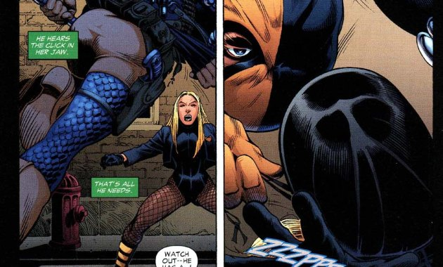 Deathstroke takes down green arrow and black canary 2