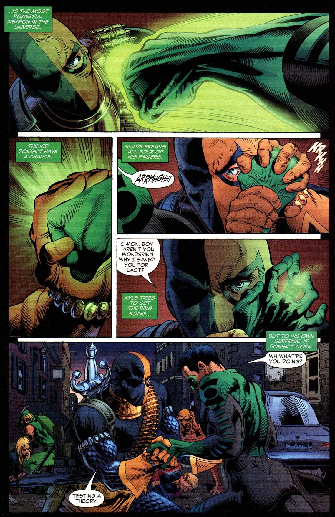 Deathstroke Takes Down Kyle Rayner | Comicnewbies  Deathstroke Vs Green Lantern
