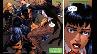 Deathstroke takes down zatanna