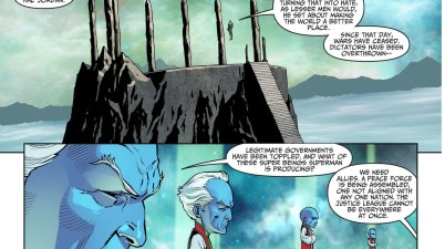 hal jordan defends superman from the guardians 2