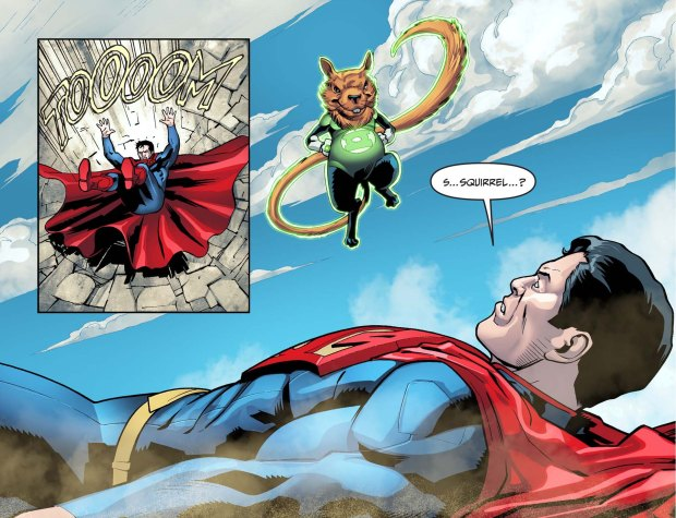 how a squirrel beat superman 3