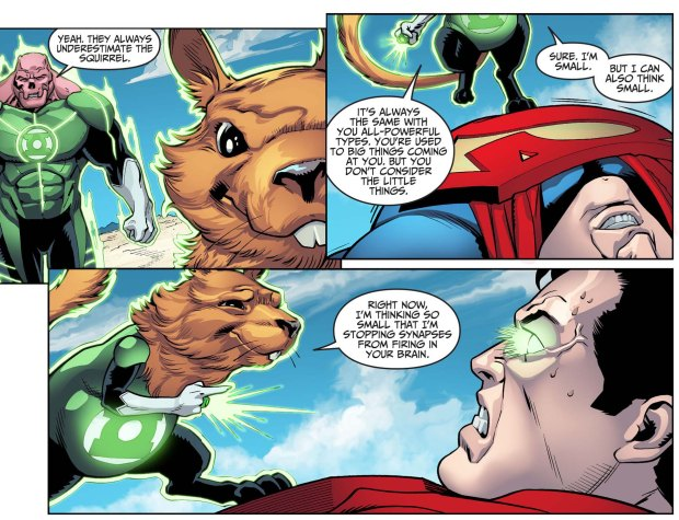 how a squirrel beat superman 4