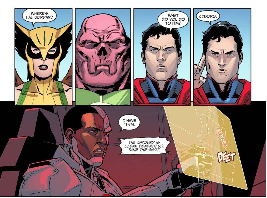 superman attacks the green lantern corps 2