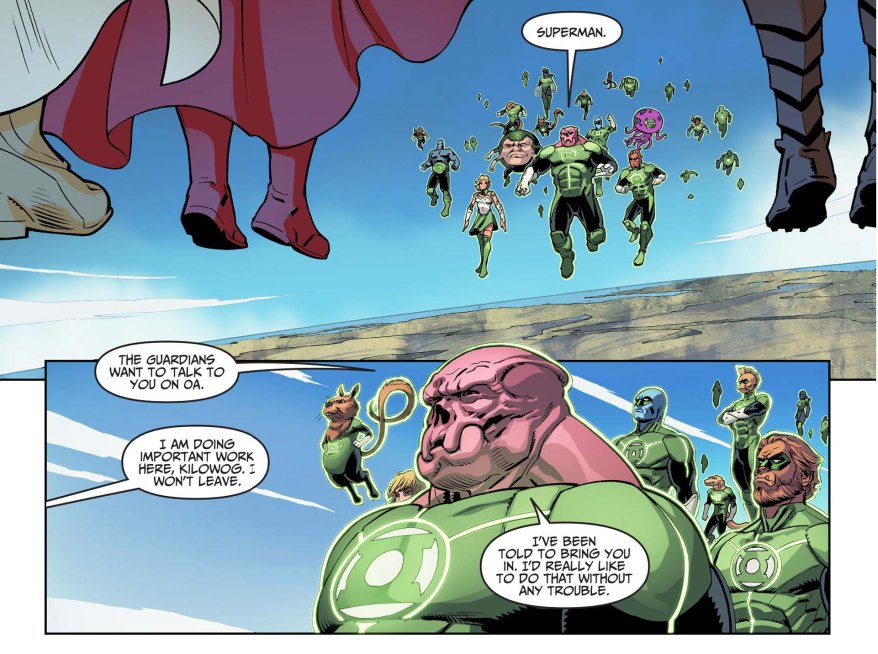 superman attacks the green lantern corps