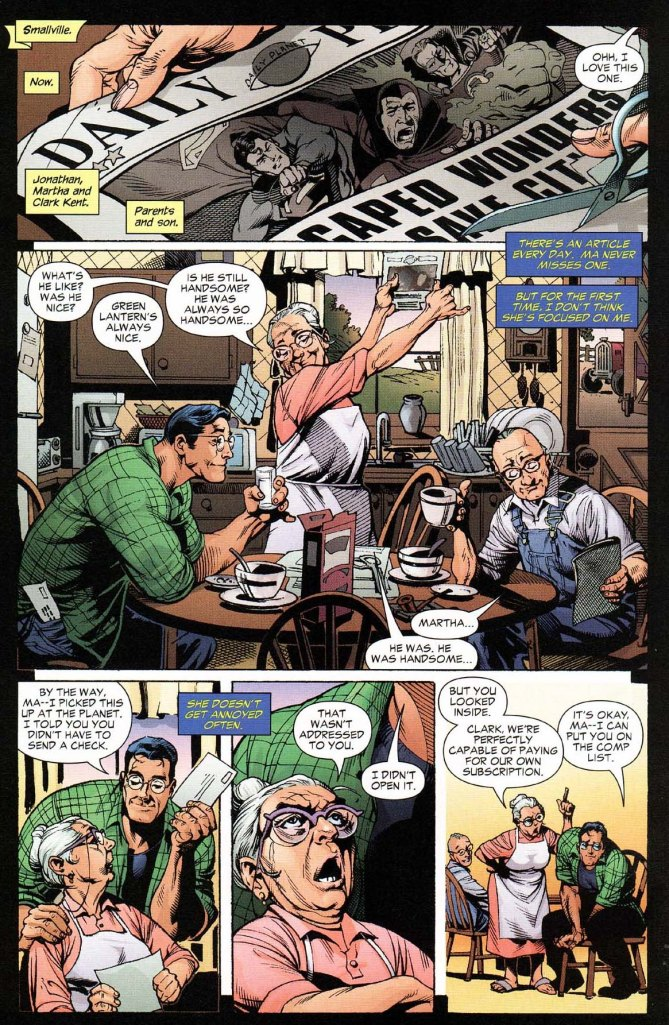 Superman's mom has a crush on green lantern